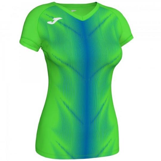 OLIMPIA T-SHIRT FLUOR GREEN-ROYAL S/S WOMAN