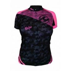 dres krátky dámsky HAVEN SINGLETRAIL čierno / ružový