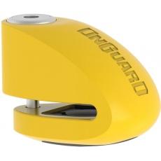 zámek ONGUARD diskový s alarmem pin 6 mm žlutý
