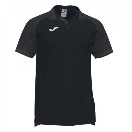 ESSENTIAL II POLO BLACK-ANTHRACITE S/S