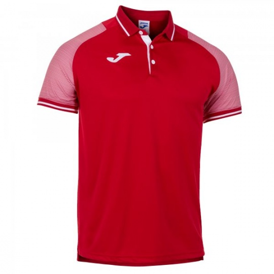 ESSENTIAL II POLO RED-WHITE S/S