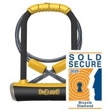 zámok OnGuard Pitbull podkova 115 × 230 × 14 mm + lanko 1200 × 10 mm