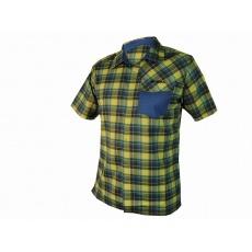 košeľa krátka pánska HAVEN Agness Slimfit modrá / žltá