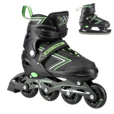 Kolieskové korčule NILS Extreme NH11912 A 2v1, zelené