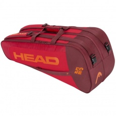 Head Core 6R Combi tennis bag red-claret-orange 283401
