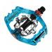 pedále nášľapné EXUSTAR PM825 modré priehľadné