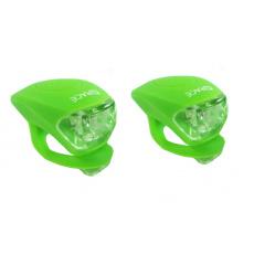 blikačka predné + zadné 4RACE LS03 silicon zelené