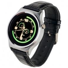 Watch, smartwatch Garett GT18 silver leather