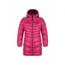kabát dětský LOAP INKA zimní růžový