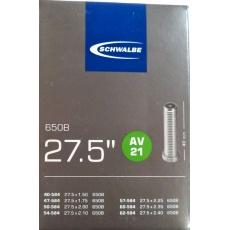 """duša SCHWALBE AV21 27.5""""x1.50-2.40 (40 / 62-584) AV / 40mm"""