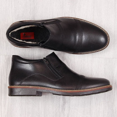 Comfortable leather boots M Rieker 15381-00