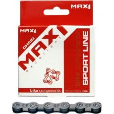 řetěz MAX1 10 speed, 116L, šedý, se spojkou