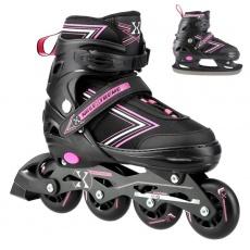 Kolieskové korčule NILS Extreme NH11912 A 2v1, ružové