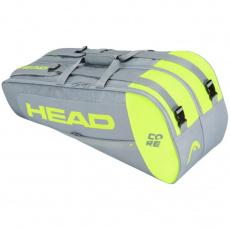 Head Core 6R Combi tennis bag gray-lime 283401