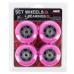 PU kolieska s ložiskami NILS EXTREME 76x24mm ABEC 7 ružové