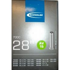 """duša SCHWALBE AV15 28 """"x 3 / 4-1.10 (18 / 28-622) AV / 40mm"""