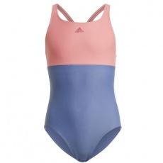 Adidas Girls Colorblock 3S Swimsuit Jr GN5862 costume