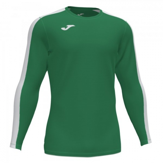 ACADEMY T-SHIRT GREEN-WHITE L/S