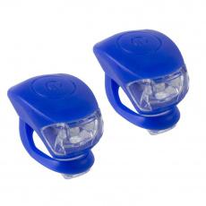blikačka predné + zadné silicon bez loga nebalené modré