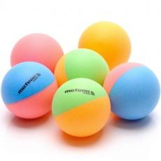 A set of 6 ping pong balls Rainbow