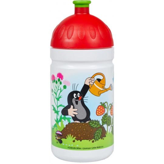 Zdravá lahev 0,5 l Krtek červená