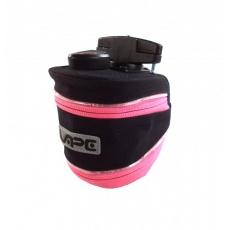 brašna Vape podsedlová TWIST LED žralok neon růžový zip