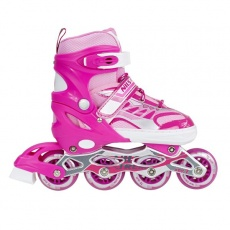 Detské kolieskové korčule NILS EXTREME NJ 1828 A ružové