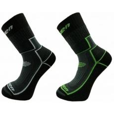 ponožky dětské HAVEN TREKKING černo/zelené černo/šedé 2 páry