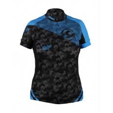 dres krátky dámsky HAVEN SINGLETRAIL čierno / modrý
