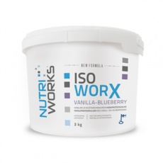 Iso Worx NEW FORMULA 3kg vanilka - čučoriedka + Vitamín C 200g ZADARMO